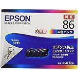 エプソン 純正 インクカートリッジ 鍵 IC4CL86 4色パック 大容量