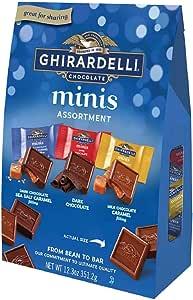 Ghirardelli【 ギラデリ / チョコレート ミニ スクエア アソート バッグ / 12.3oz 約350g】 [並行輸入品]