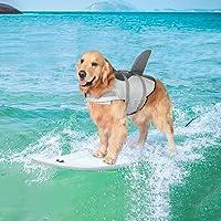 Metgladペット 犬用ライフジャケット 水泳救命胴衣 小型犬 中型犬 大型犬 猫用 救急服 水遊び用 運動用 犬 水…