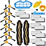Theresa Hay Accessories Kit for Ecovacs Deebot N79S N79 Robotic Vacuum Cleaner Filters, Side Brushes,Main Brush 2+1+10+10