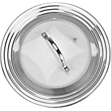 Stainless Steel Universal Lid for Pots, Pans and Skillets - Fits 7 In to 12 In Pots and Pans - Replacement Frying Pan Cover a