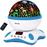 Moredig Baby Projector with Timer and Remote Built-in 12 Light Songs 360 Degree Rotating 8 Colorful Lights for Birthday, Part