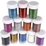 Glitter for Slime Teenitor extra fine glitter Shakers in shaker jars Great for Slime Art and Crafts Nail Art Polish Scrapbook