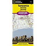 National Geographic Tanzania, Rwanda, Burundi: Travel Maps I…