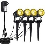 T-SUN LEDガーデンライト アウトドア スポットライト COB led ライト4個 led ライト 電球色 IP6…