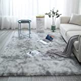 Ultra Soft Non-Slip Indoor Fluffy Thick Indoor Area Rug for Home Decor Bedroom Dormitory Rectangle Light Grey 5.3 x 6.6ft