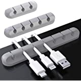 Cable Clips, TERSELY 3 Pack Cord Management Cable Organizer, Silicone Adhesive Wire Holder for Power Cords, Charging Cables i