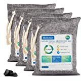 Homstect Bamboo Charcoal Air Purifying Bag, Nature Fresh Air Purifier Bags, Car Air Purifier, Shoe/Closet Freshener, 4Pack x