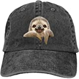 Splash Brothers Customized Unisex Pocket Sloth Vintage Jeans Adjustable Baseball Cap Cotton Denim Dad Hat