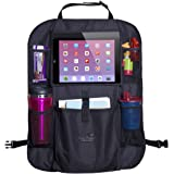 Mom's Besty Car Back Seat Organizer for Kids and Toddlers - Touch Screen Tablet Holder for Android & iOS Tablets - Multipurpo