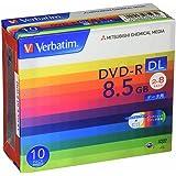 Verbatim バーベイタム 1回記録用 DVD-R DL 8.5GB 10枚 ホワイトプリンタブル 片面2層 2-8倍速 DHR85HP10V1