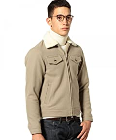 Green Label Relaxing Lambswool Bomber Zip Jacket 3225-199-1828