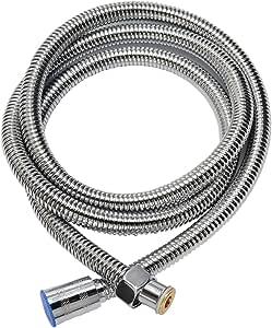 シャワーホース ステンレス製 真鍮コネクター 360度回転可能 絡まり防止 防爆 耐寒 耐熱 水漏れ防止 無臭 バスアクセサリー交換可能(1.5M) (1.5M)
