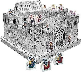 nullie 段ボールハウス おえかき 知育玩具 子供用 秘密基地 紙の家ヌリー (ミニキャッスル)