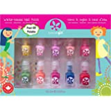 Suncoat Girls Nail Polish Sets for kids - Water Based Children's Nail Polish Set - Party Palette - Safe and Fun Nail Polish f