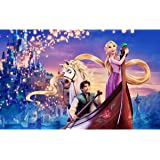 Leezeshaw 5D DIY Diamond Painting By Number Kits Fameless Rhinestone Embroidery Paintings Pictures For Home Decor - Tangled(1