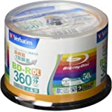 Verbatim バーベイタム 1回録画用 ブルーレイディスク BD-R DL 50GB 50枚 ホワイトプリンタブル…