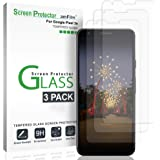 Google Pixel 3a Screen Protector Glass (3 Pack), amFilm Case Friendly Tempered Glass Screen Protector Film for Google Pixel 3