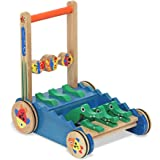 Melissa & Doug 3011 Deluxe Chomp and Clack Alligator Wooden Push Toy and Activity Walker