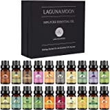 Lagunamoon Premium Essential Oils Set,Top 20 Pure Natural Aromatherapy Oils Lavender Frankincense Peppermint Rose Rosemary Sa