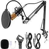Voilamart BM-800 Professional Studio Broadcasting Recording Condenser Microphone & Adjustable Microphone Suspension Scissor A