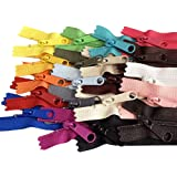 20pcs Mixed Colors Ykk Number 4.5 Coil Handbag Zipper or Purse Zippers Long Pull Made in USA Pack Vinyl Bag, 20 inches