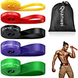 Quanwei Resistance Bands Set, Natural Latex Fitness Bands, Resistance Loop Bands-Heavy Duty Set of Pull Up Assist Bands, Perf