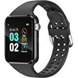 Smart Watch Compatible iPhone iOS Samsung Android for Men Women Kids - Touchscreen Bluetooth Smartwatch Wrist Watch Sports Fi