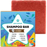 Reef Safe Shampoo Bar - Coconut. All Natural Organic & Baby Safe, Solid Shampoo Bar for Hair. Cleansing, Softening, Biodegrad