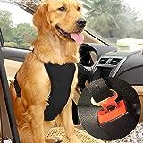 EAST-BIRD Dog Safety Vest Harness with Safety Belt for Most Car, Travel Strap Vest with Car Seat Belt Lead Adjustable Lightwe