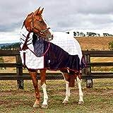 (ウェザビータ) Weatherbeeta 馬用 Breeze サーチングル付き III コンボネック ターンアウトラグ 馬着 乗馬 ホースライディング