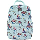 Loungefly Ariel Little Mermaid Nylon Square Backpack