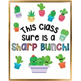 Succulent Theme Classroom Bulletin Board Decoration Set, Cactus Themed Welcome Banner, Wall or Door Decor, Ready to Use, Huge
