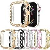 【5枚入り】ケースに対応Apple Watch Series 3 2 1 38mmアップルウォッチ保護カバー、複列ダイヤ…
