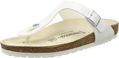 Birkenstock Unisex Gizeh, White Sandals