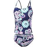 Girls Two Piece Tankini Swimsuits Hawaiian Ruffle Bathing Suit Summer Beach Swimwear Set