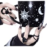 Large Coffee Mug (Celestial) by Rogue + Wolf Witch Goth Accessories for Women Hocus Pocus Gothic Home Decor Unique Spooky Wit
