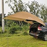 Kadahis タープ テント カーサイドタープ 車用 日よけカーテント 設営簡単 単体使用可能 4-8人用 キャンプ テント アウトドア 公園 登山 車中泊