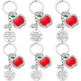 Teacher Gifts for Women - 6PCS Teacher Keychain Teacher Appreciation Gifts, Thank You Gifts for Teachers, Birthday Valentine'