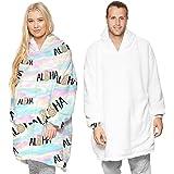 SumaidaAU Wearable Blanket Sweatshirt Hoodie for Women and Men Girl Boy Oversized Double Fleece Plush Cartoon Hooded Top with