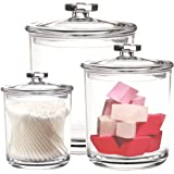 Youngever 60-Ounce, 30-Ounce and 15-Ounce Premium Quality Clear Plastic Apothecary Jars Set of 3