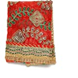 Red Decorative Cloth Pooja Chunari (Size :- 12Inches x 18 Inches) Chunni Puja Festival Decoration Chunr MATA Ki Chunri for St