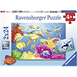 Ravensburger 07815, Vibrance Under the Sea 2 x 24 Piece Puzzles in a Box, 2 x 24 Piece Puzzles for Kids, Every Piece is Uniqu
