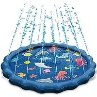 噴水マット ケテン・Keten プレイマット 最新設計 子供 親子 水遊び 芝生遊び プールマット 家庭用 夏対策 150CM直径