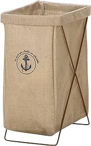 不二貿易 ランドリーボックス 縦型 麻 幅24×奥行35cm 30685