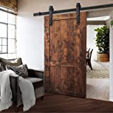 3m Sliding Barn Door Hardware Track Set Home Office Bedroom Interior Closet 120kg Door Weight Capacity