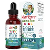 Focus and Attention - Brain Support for Kids by MaryRuth's | Focus & Attention Natural Supplements for Kids | Herbal Blend Ma