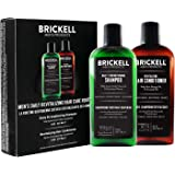 Brickell Men's Daily Revitalizing Hair Care Routine, Shampoo and Conditioner Set For Men, Mint and Tea Tree Oil Shampoo, Stre