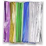 "1200pcs 3"" Metallic Twist Ties - 5 Colors Better Than Plastic Black Ties and Paper Ties"