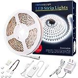 LED Strip Lights Dimmable Rope Lights 12V LED Light Strip White Under Cabinet Lighting Ultra Bright Vanity Lights 16.4ft LED